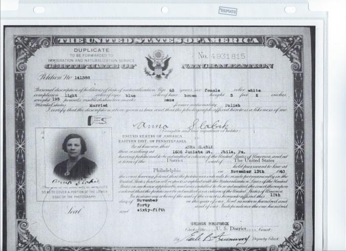 Anna naturalization