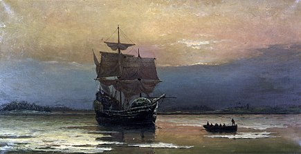 435px-Mayflower_in_Plymouth_Harbor,_by_William_Halsall